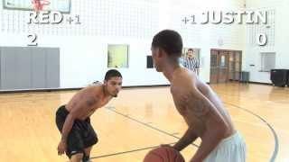 V1F - 1 on 1 Basketball, Game 037 (Red vs Justin)