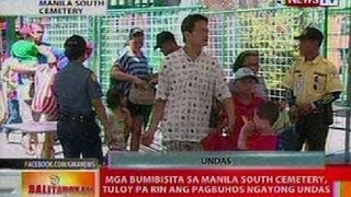 BT: Mga bumibisita sa Manila South Cemetery, tuloy pa rin ang pagbuhos ngayong Undas