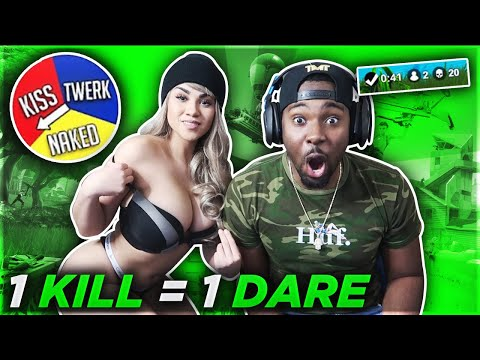 1 KILL = 1 DARE FORTNITE ROULETTE w/ GIRLFRIEND - Fortnite Challenge (CRAZY REACTION)
