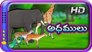 Adhamulu - Telugu Stories for kids | Panchatantra Kathalu | Moral story for children