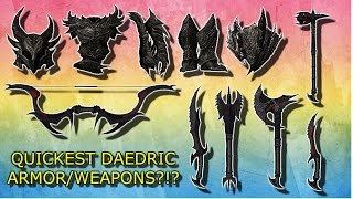 Skyrim How To Get Daedric Armor QUICKEST/EASIEST?
