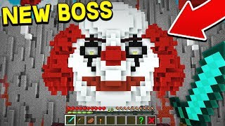 I BATTLED THE NEW HALLOWEEN MINECRAFT BOSS! (PENNYWISE IT CLOWN)