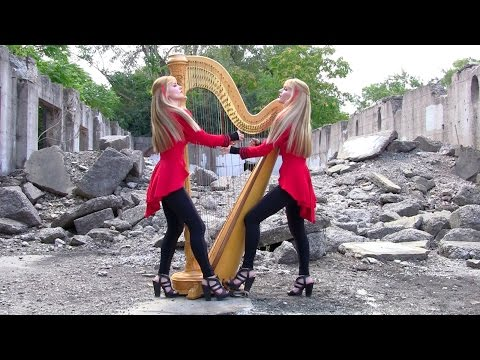 "METALLICA ""One"" - 2 Girls 1 Harp (Harp Twins) HARP METAL"