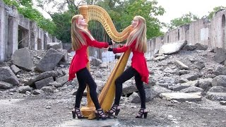 "METALLICA ""One"" - 2 Girls 1 Harp (Harp Twins) HARP METAL"