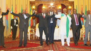 """Selam"" Mohammed Ahmed with Prime Minister Abiy Ahmed and Eritrean Delegation at National Palace"
