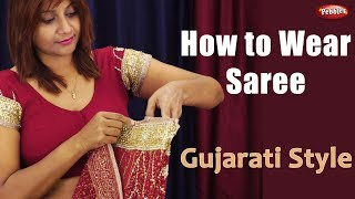 How to Wear Gujarati Saree || Indian Draping Styles || Best Costume in the World || Hindi Video