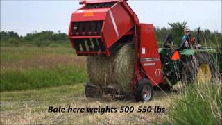Hay Baling: John Deere Tractors 5055e &1026R, and Massey 1734 baler