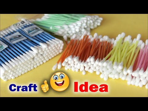 Xxx Mp4 Genius Craft Idea Using Cotton Buds Wall Frame Making Using Waste Material Waste Mathi Best Easy 3gp Sex