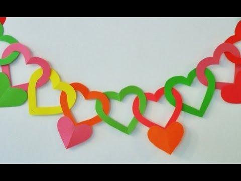 Guirnalda de corazones Adornos para colgar Manualidades para todos