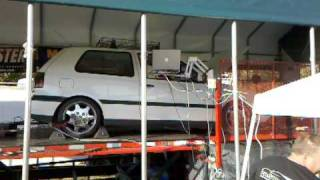 Barry's turbo VR6 spinning on the dyno