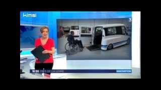 Kimsi, le monospace électrique pour la conduite en fauteuil roulant (Reportage France3)