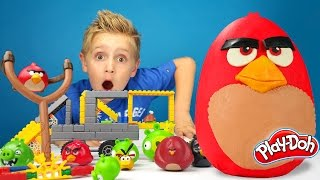 Angry Birds Play-Doh Surprise Egg with Hot Wheels Track and Angry Birds K