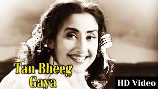 Tan Bheeg Gaya   Video Song   Insaniyat ke Devta (1993)   Vinod Khanna   Rajnikanth