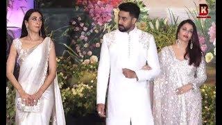 Aishwariya Rai, Abhishek Bachchan, Karishma Kapoor At Sonam Kapoor