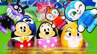 ディズニー たまご 開けてみたよ 何が出てくるかな?❤バイキンマン ドキンちゃん コキンちゃん アンパンマンおもちゃアニメ animation Anpanman Toy Disney