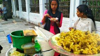 STREET FOOD TOUR - POPULAR FOOD Jhal Muri EXPLORING IN DHAKA BANGLADESH FOOD TRAVEL