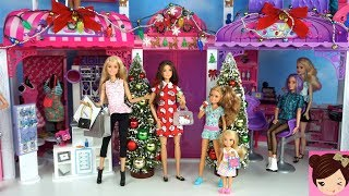 Barbie and Her Sisters Go Christmas Holiday Shopping at The Mall - Titi Dolls