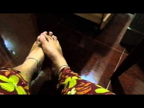 My Indian Cross-dressing feet with payal