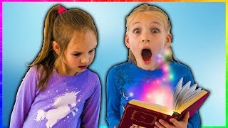 Magical book adventure, Amelia and Avelina adventure fun