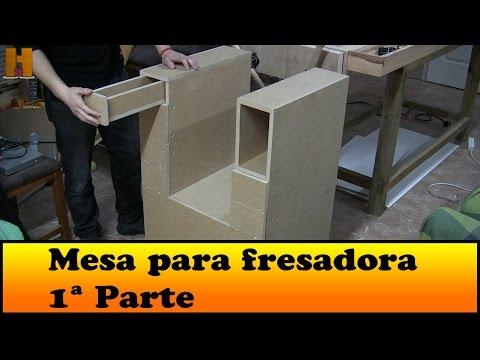 Como construyo esta mesa para la fresadora 1 parte daikhlo for Mesa para fresadora