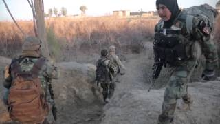 US Special Forces and Afghan Commandos Engage Taliban