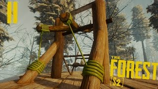 CONSTRUCTION D'UNE INCROYABLE CATAPULTE ! | The Forest [S2] ! #Ep11