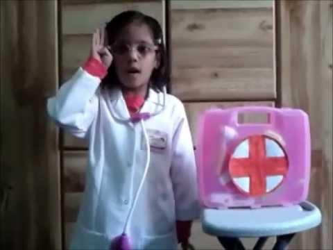 Fathima Zainab rehearsing as a doctor for Huda FebFest 2012 Fancy Dress