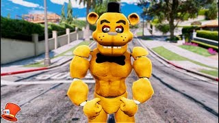 BRAND NEW BUFF FREDDY ANIMATRONIC! (GTA 5 Mods For Kids FNAF RedHatter)