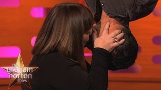 Bear Grylls and Dawn French Do The Spiderman Kiss - The Graham Norton Show