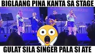 Pinakanta sa Stage, Singer pala si Ate