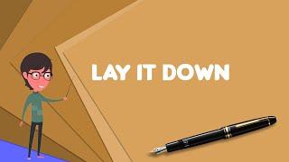 What is Lay It Down (Al Green album)?, Explain Lay It Down (Al Green album)
