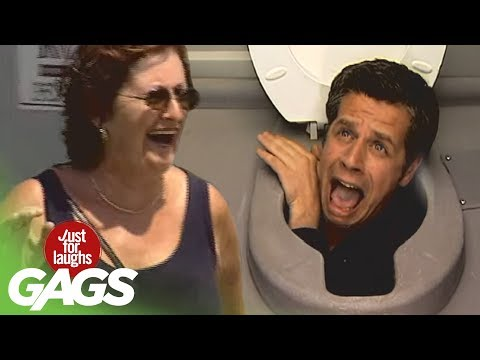 Head in the Toilet Prank Just For Laughs Gags