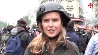 مراسلة روسيا اليوم في باريس ... صفعة على الهواء