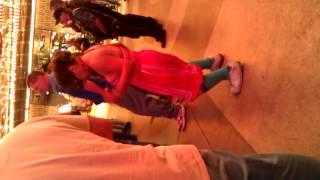 Crazy drunk lady dancing in Las Vegas