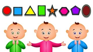 Learn Shapes For Babies And Many More | JamJammies Fun Songs | Nursery Rhymes Compilation