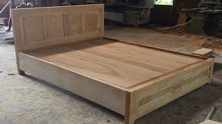 Woodworking Skills Are Very Smart - How To Building A Queen Size Bed Extremely Simple and Beautiful
