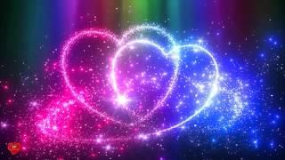 Два сердца в искрящихся блесках