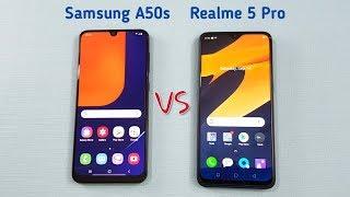 Samsung A50s vs Realme 5 Pro SpeedTest & Camera Comparison