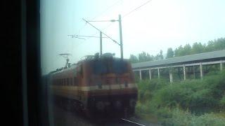 High Speed crossing with Kerala Express near Vijayawada