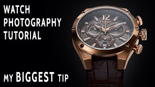 How To Create An Advertising Quality Watch Photo With One Light