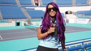 Sasha Banks returns to Zayed Sports City Tennis Stadium