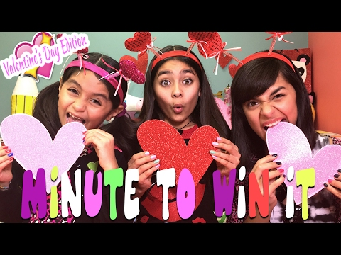 Minute To Win It Challenge Valentines Day Edition CHALLENGES GEM Sisters