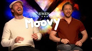 James McAvoy & Michael Fassbender: Fingers & farewells!