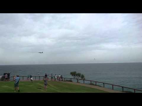 F/A-18F Super Hornetsflyby Point Danger Gold Coast