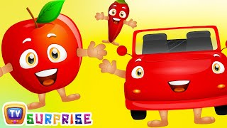 Learn RED Colour with Funny Egg Surprise & RED Color Song | ChuChuTV Surprise Eggs Colors for Kids