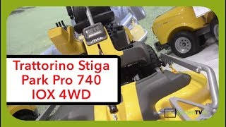 Nuovo trattorino a piatto frontale Stiga Park Pro 740 IOX 4WD