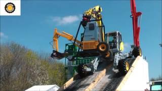 Menzi Mucks all terrain excavator demo Bauma 2016