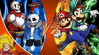 SANS and PAPYRUS vs MARIO and LUIGI! REMATCH! Cartoon Fight Club Episode 125 REACTION!!!