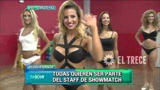 Nos metimos en el casting de bailarinas para Showmatch 2016