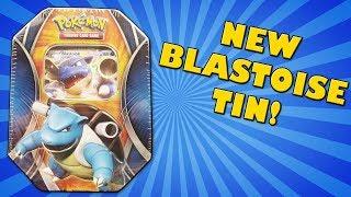 Opening a NEW Blastoise EX Tin of Pokemon Cards!